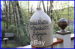 1800's SCRIPT STONEWARE POTTERY PATTERSON 4 JUG NJ JAMES BELL MARKET ST
