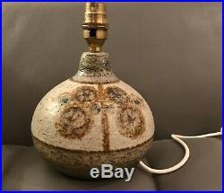 1960s Stoneware Table Lamp by Søholm Stentøj Denmark Art Pottery
