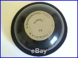 1980's Rare Bennington Potters David Gil Black Satin Stoneware Large Rimmed Bowl
