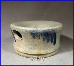 19th C Cobalt Decorated Salt Glaze Stoneware Spittoon Baltimore Virginia