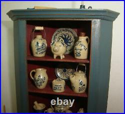 2018 Barbara Vajnar DH Mini Cupboard + 26 pieces of Jane Graber Stoneware + Pin