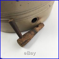 AFAA 1880s Salt Glaze Stoneware Gate City VA Water Cooler Cobalt Fern