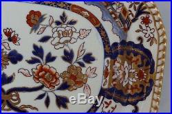 ANTIQUE 19th C. Spode Felspar Stoneware 3599 Imari pattern LARGE PLATTER 14
