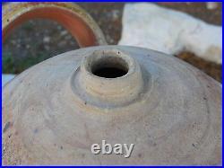 ANTIQUE FRENCH GLAZED POTTERY JAR / DEMIJOHN 19th c. ST AMAND en PUISAYE