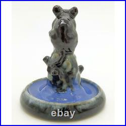 A rare Doulton Lambeth antique art Pottery mouse Bibelot C. 1920's