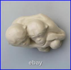 A rare Doulton Lambeth stoneware pottery Monkey Group Leslie Harradine C1912+