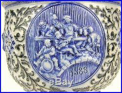 Antique 16 German Stoneware WESTERWALD Pottery Pitcher Jug Ewer Martin Luther