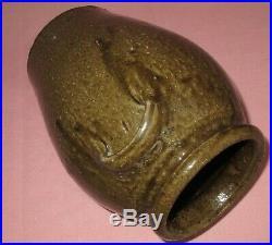Antique 19th C Carolina Stoneware Pottery Alkaline 1 Gal Daniel Seagle Crock Jar