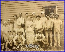 Antique 19thc Stoneware Ohio Pottery Folk Art Crock Jug Trade Sign Labor Photo