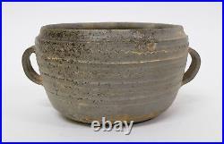 Antique Asian Korean Stoneware Pottery Bowl Pot Silla Dynasty 57BC AD935