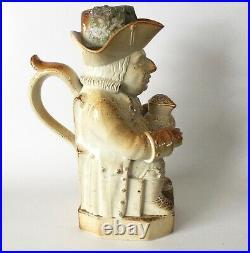 Antique BRAMPTON Pottery SALT GLAZED Stoneware TOBY JUG 11 King George III