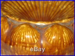 Antique Bennington Stoneware Art Pottery Sea Shell Nautical Spittoon Pot Vase