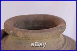Antique Chinese Pottery Large Vase Stoneware 18th C. Qing Dynasty China Ceramic