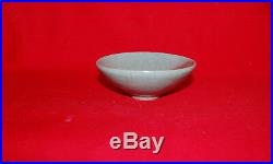 Antique Chinese Stoneware Purple Splashed Crackle Glaze Jun Ware Pottery Bowl