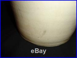 Antique Cowden, Pa Cobalt Blue Stenciled Stoneware Pottery Storage Jug, 2 Gallon