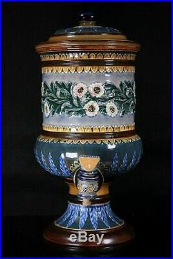 Antique Doulton Lambeth Pottery Samovar Circa 1900