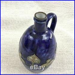 Antique Doulton Lambeth Stonware Pottery Jug Art Nouveau Emma C Harrison Blue