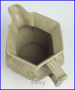 Antique Drabware pottery pitcher English drab ware stoneware jug