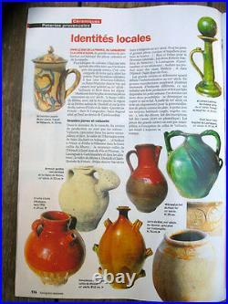 Antique French Art Pottery Stoneware Pot Confit Earthenware Provence Pitcher