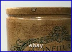 Antique French Jam Pot Stoneware 1920's