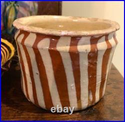 Antique French Pot Pottery Confit Stoneware Terracotta Pitcher Jug Jar Redware