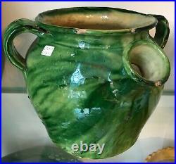 Antique French Pottery Earthenware Stoneware Glaze Confit Large Gargoulette