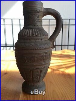 Antique German Raeren Stoneware Westerwald Bellarmine Medieval Ex-Museum Pottery
