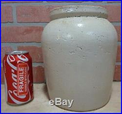 Antique HASSELBECK CHEESE CO BUFFALO NY Stoneware Pottery Bulbous Dairy Crock