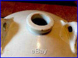 Antique Japanese Large Pottery Stoneware Cobalt 12in SAKI Crock
