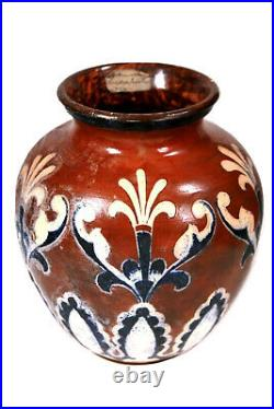 Antique Martin Brothers Stoneware Vase Circa 1896