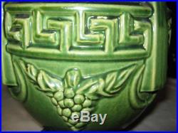 Antique Mccoy Stoneware Majolica Greek Key Pottery Plant Urn Garden Planter USA