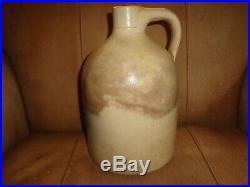Antique N A White & Son, Utica NY Cobalt Blue 1 Gallon Stoneware Pottery Jug, j1