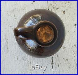 Antique Navasota, Texas Stoneware Pottery Mini Scratch Jug Franklin
