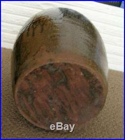 Antique North Carolina Stoneware 5 Gal. Pottery Jug Alkaline Tobacco Drip Glaze