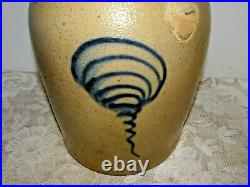 Antique Ottman Bros. Ft. Edward Primitive Salt Glaze Stoneware 1 Gallon Crock