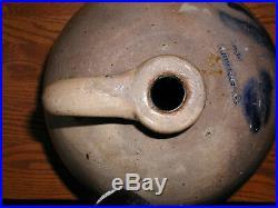 Antique Ovoid Salt Glazed Stoneware jug by N&A Seymour, 1800's
