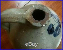 Antique, Pa Cobalt Decorated 2 Gal Stoneware Jug