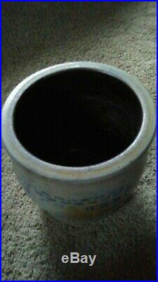 Antique Pottery Stoneware Blue Grey Crock A. Conrad PA