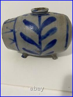 Antique Primitive Blind Pig Stoneware Rundlet Aafa