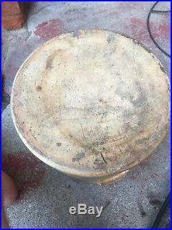 Antique Primitive Blue Decorated 2 Gallon Stoneware Crock Blue Bee Sting