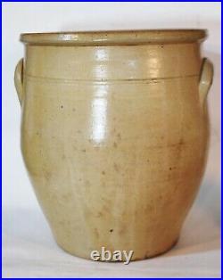 Antique Primitive Cobalt Blue Decorated Stoneware Pottery Crock Jug WV 6 Gallon