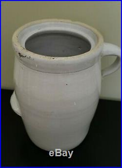 Antique RARE Louisville Pottery Co Blue Indian Head Stoneware Butter Churn