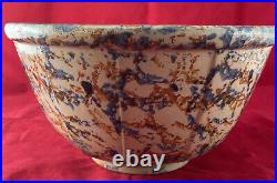 Antique RED WING Sponge Ware #11 Mixing Bowl Stoneware Pottery 11 1/4D x 5 3/4H