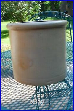 Antique Red Wing Stoneware 2 Ga Rib Cage Double P Crock Bottom Marked Pottery