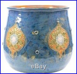 Antique Royal Doulton Large Maud Bowden Stoneware Jardinière Vase Circa 1903