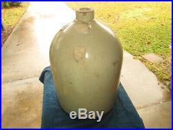 Antique Saenger Pottery Elemendorf Texas Stoneware 5 Galllon Jug Rare As Is