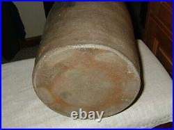 Antique Salt Glazed 1 1/2 Gallon Stoneware Pottery Crock/Jar 3 Blue Wings, Vgood