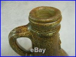 Antique Salt Glazed Stoneware Bellarmine Jug Circa 1650 Crown Over Shield