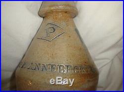 Antique Salt Glazed Stoneware NJ Soda Beer Bottle Pfannebecker Paterson 1870 Old
