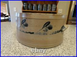 Antique Saltglazed Stoneware Cake Crock